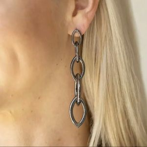 Gunmetal Shiny Links, Dangle Earring, Street Spunk